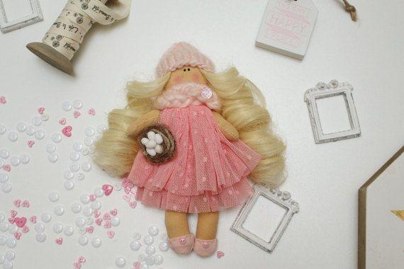 Handmade fabric doll custom made decorative doll rag by SGmode