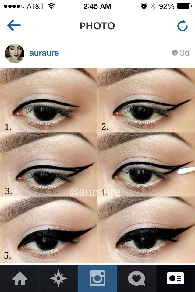 How to do the perfect eyeliner wing : makeup : Pinterest ...