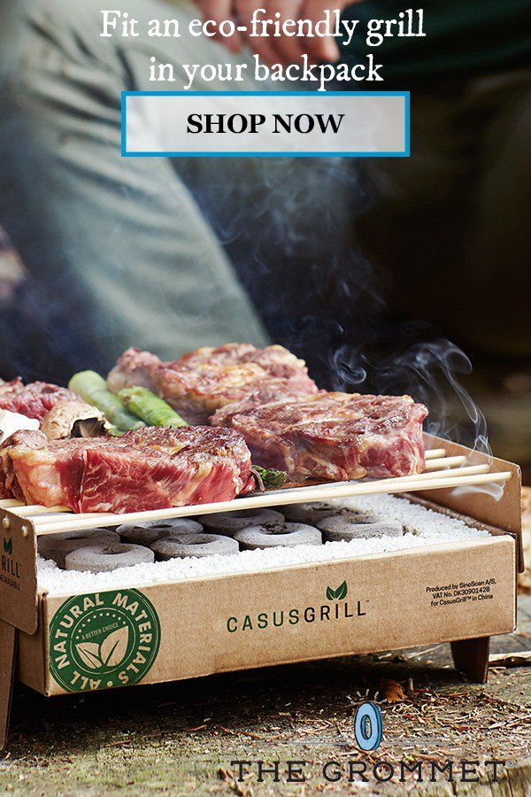 An Eco Friendly Award Winning One Time Use Grill Created In Response To Campsite Litter It S Made Of Natural Components Like Bamboo And Lava Stone