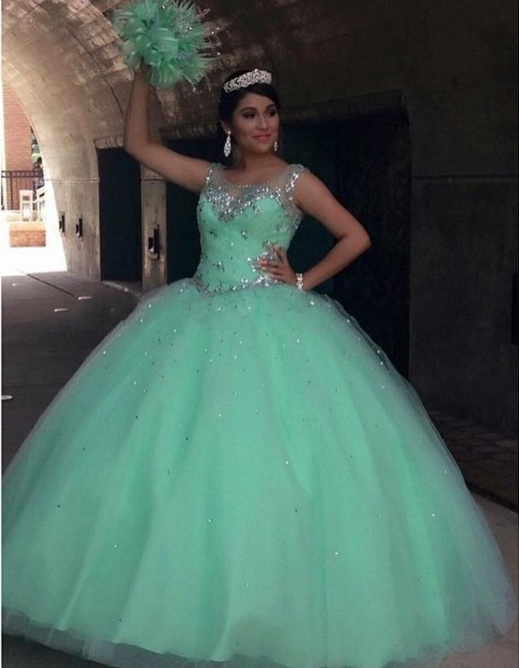 Stunning Mint Green Quinceanera Dresses Ball Gown 2016 Crystal Sequins Plus Size Ruffles Skirt Corset Back Sweet 16 Formal Prom Dresses 2016 Quinceanera Dresses 2015 Quinceanera Dresses Crystal Prom Dresses Online with $228.58/Piece on In_marry's Store | DHgate.com