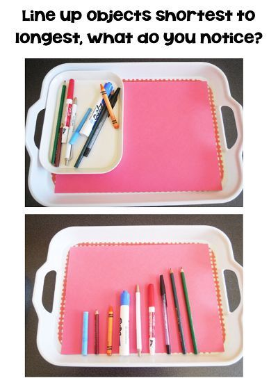 Trays for non standard measurement and exploration with standard units free printable