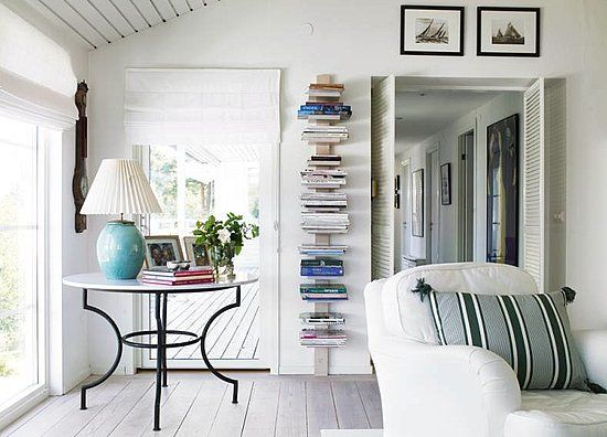 For my beach house. Bonus: books by the door to grab on your way to the beach.