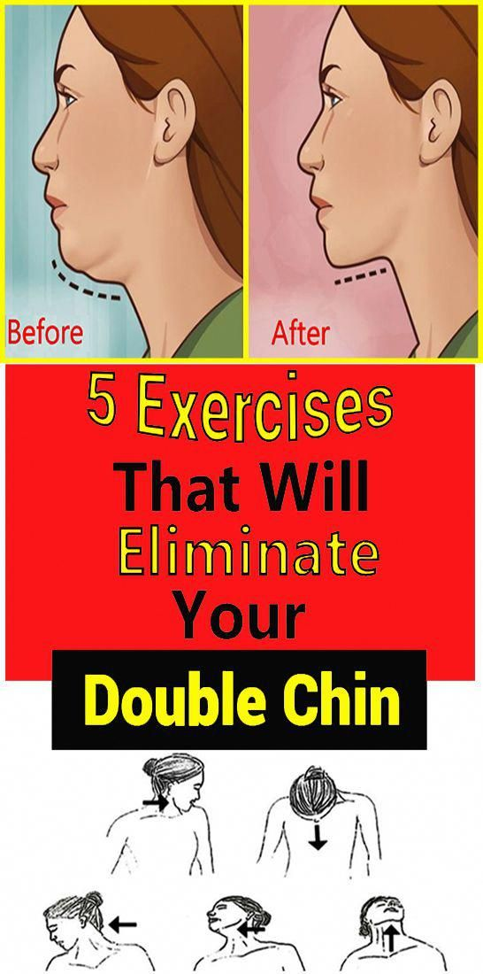 5 Exercises That Will Eliminate Your Double Chin #fitnesstips