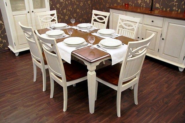 6 krzeseł + stół rozkładany 150-195x90  2799 pln