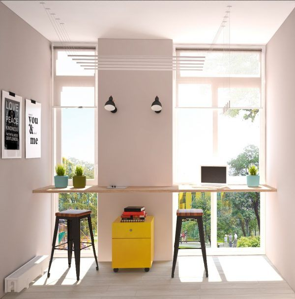 Find This Pin And More On Home Office Designs By Homedesigning. Home Office  Design. MariiaMovchansmallapartmentyellowcabinet