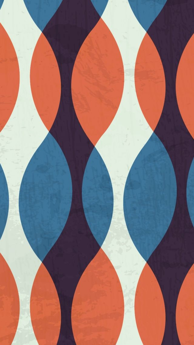 Orange and Blue Retro. Colorful Pattern iPhone Wallpapers to brighten up your phone! Tap to see more! - @mobile9