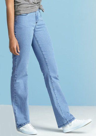Calça Jeans Feminina Regular Com Cintura Intermediária Em Algodão   Moda  Feminina   Pinterest   Calça jeans feminina, Moda feminina e Jeans feminino 13c7a37c67