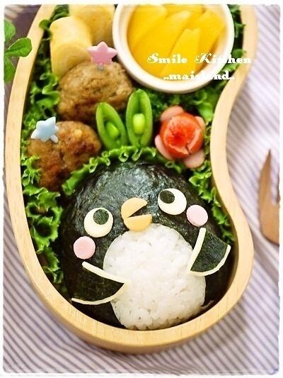 日本人のごはん/お弁当 Japanese meals/Bento ペンギン弁当 Penguin bento
