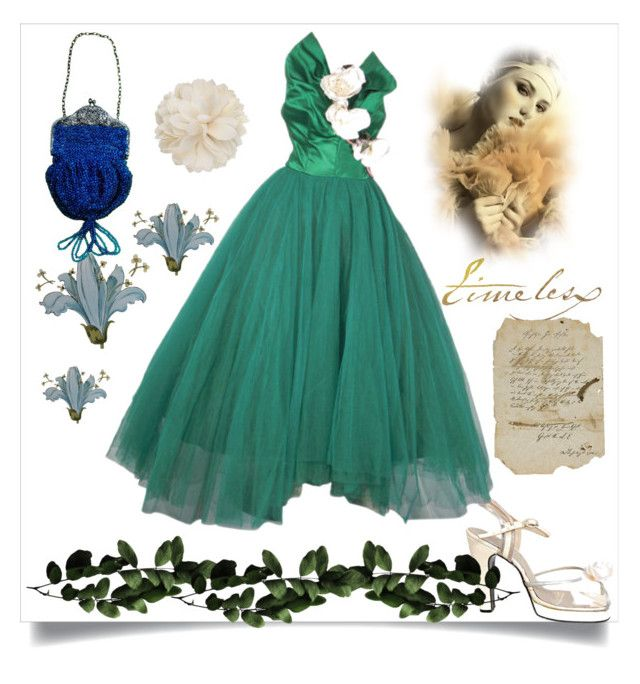vintage gown by greensparkle1 on Polyvore featuring polyvore мода style Terry de Havilland Gucci vintage fashion clothing