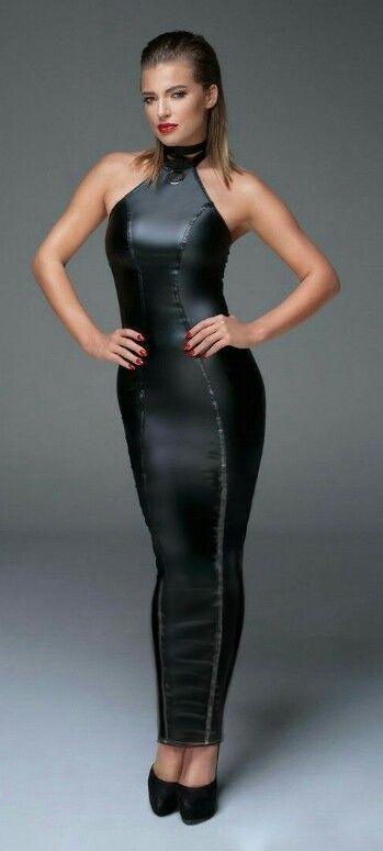 bb13f1ffc2 Black spandex hobble dress | 2356 in 2019 | Pencil dress, Leather ...