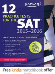 Kaplan 12 Practice Tests for the SAT 2015 - 2016  9th Edition Pdf Download e-Book