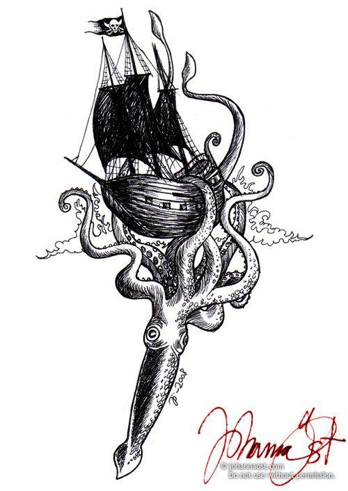 deviantART: More Like Squid Tattoo by ~ZombieMewMew