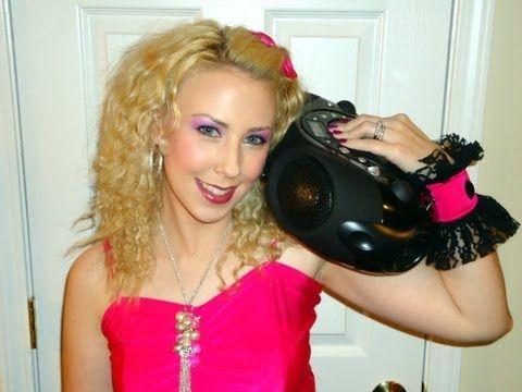 Halloween Tutorial:  Easy 80's Party Girl Makeup + Hair & Costume