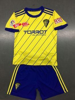 3cb6b5cd502 2018-19 Cheap Youth Kit Cadiz Home Replica Soccer Kids Suit [CFC927 ...