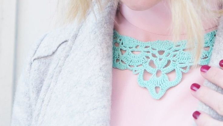 DIY crochet necklace (made by my dear friend)