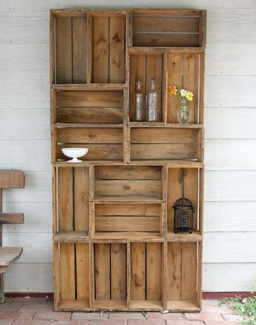 37 Vintage Craft Crate Ideas – Fun And Creative Things To Do With Old Crates - 12