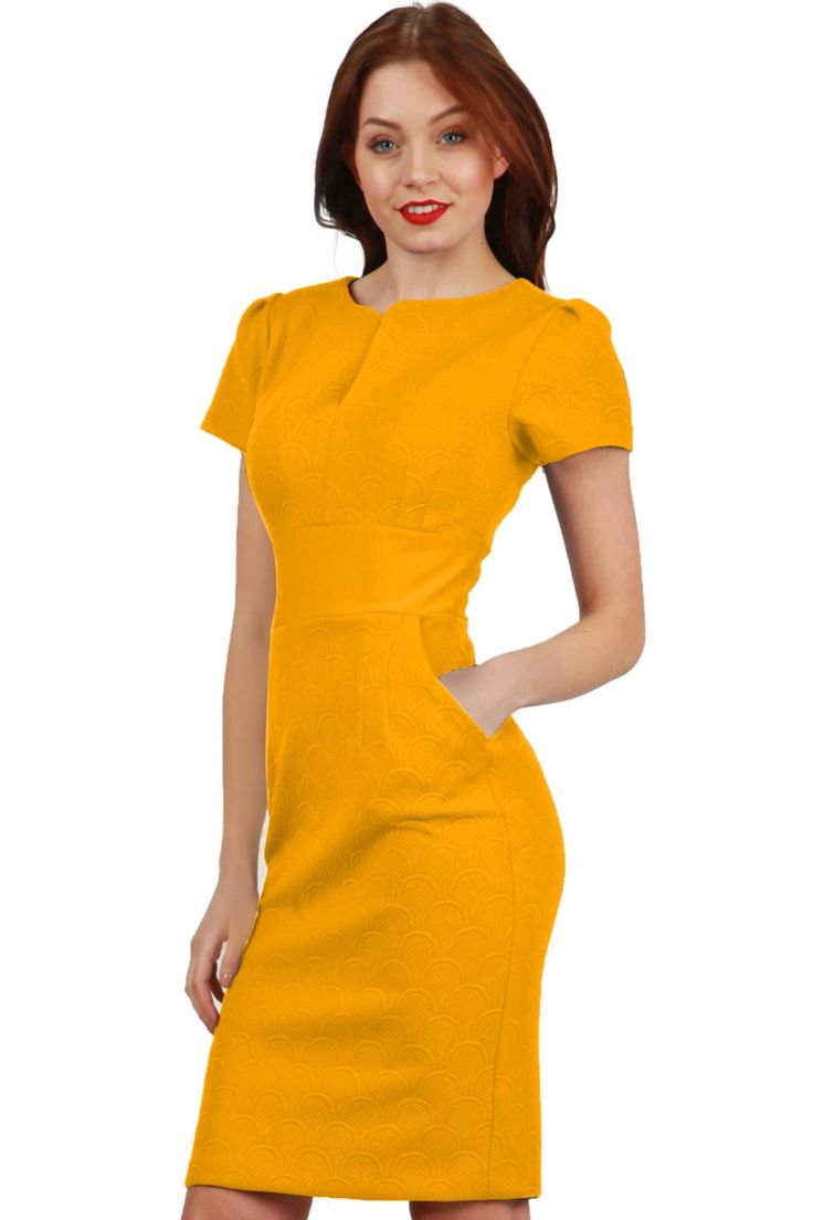 Loving the mustard textured dress! something a little bit new from diva and we LOVE it! dressy or casual this dress can do it all! #diva #welove #musrad #textured #cappedsleev #hellosummer