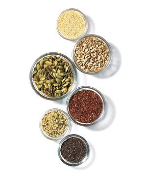 The Health Benefits of Popular Seeds: chia, flaxseed, hemp, pumpkin, sesame & sunflower.