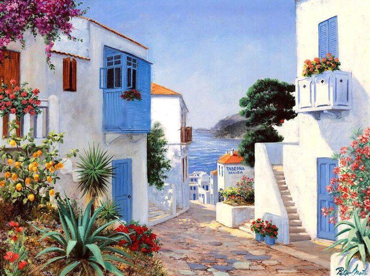 Peter Motz. Sunny Day (Santorini)