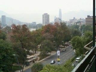 Una vista de Santiago desde un séptimo piso me envió Daniela Meléndez.