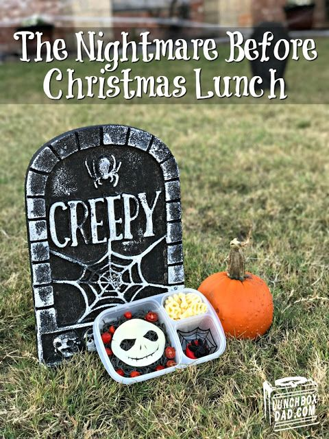 Make this easy The Nightmare Before Christmas Lunch for Halloween!