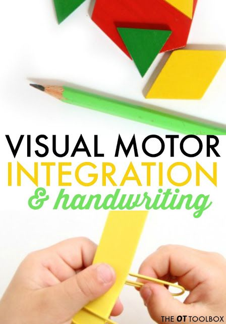 Visual motor integration and handwriting activities to help kids who struggle with handwriting.