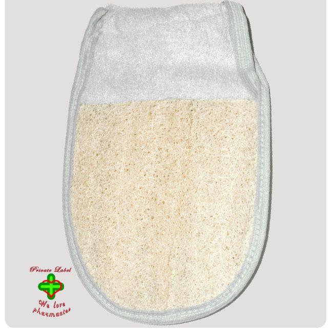 Σφουγγάρι γάντι με λάστιχο Λούφα-Πετσέτα
