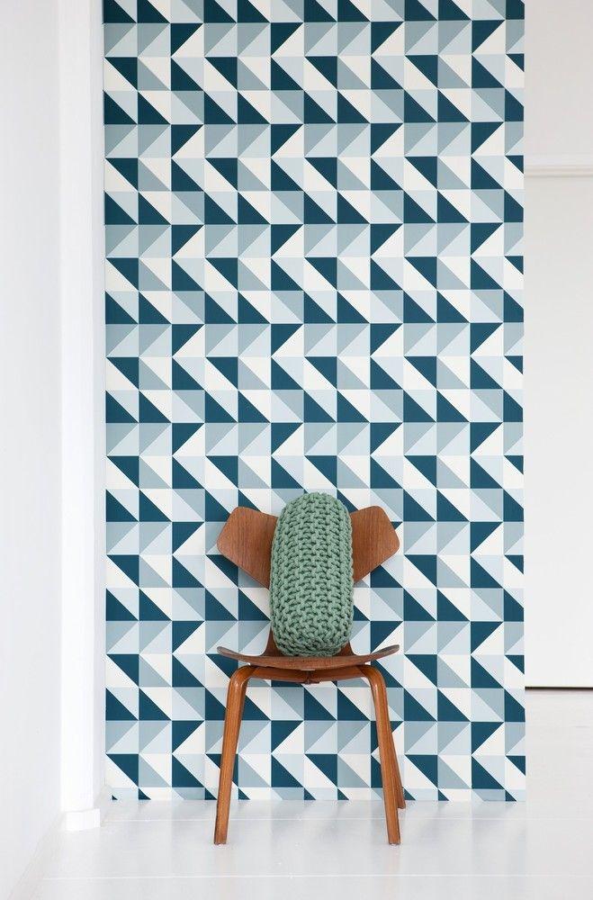 {Remix Wallsmart wallpaper} fun geometric design