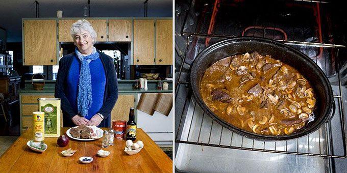 Φωτο-ταξίδι γεύσεων σε όλο τον κόσμο με σεφ... γιαγιάδες!  Καναδάς, «Βουβάλι κάτω από τον ήλιο του Μεσονυχτίου» (ονομασία εμπνευσμένη από το κυνήγι στην Αλάσκα – πρόκειται για αγριοβούβαλο με μανιτάρια)