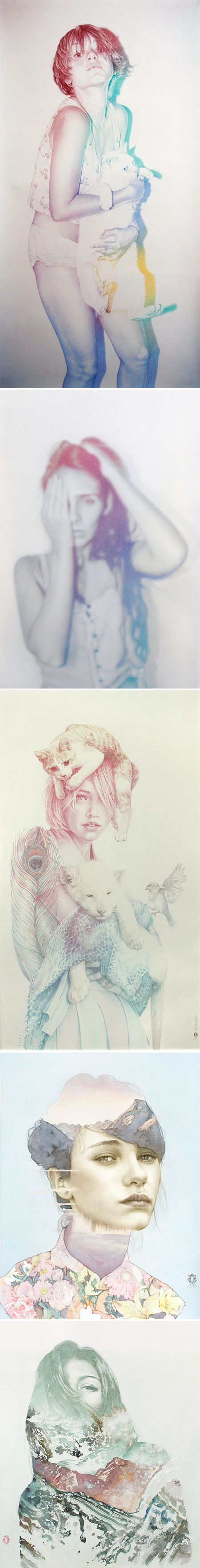 oriol angrill jorda - drawings with colored pencil