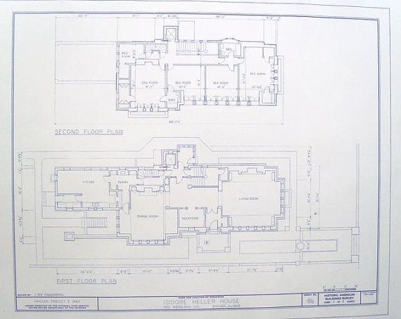 Frank lloyd wright heller house floor plan by for Blueprints for my house
