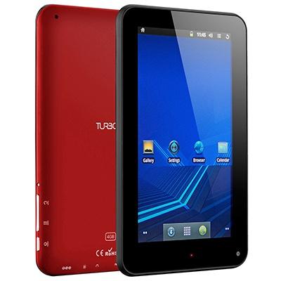 Turbo-X Tablet 7'' Breeze Red. Με 1,2GHz επεξεργαστή είναι ταχύτατο.