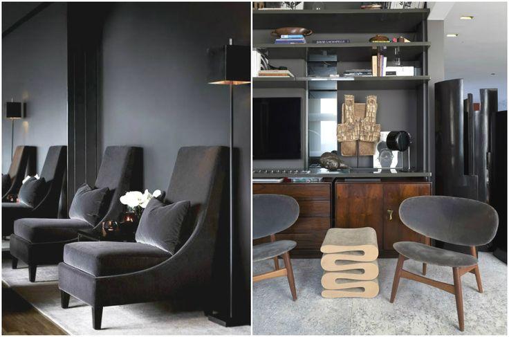 Бархатные стулья в интерьере