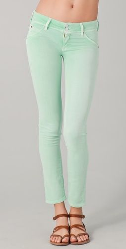 Obsessed with cute colored skinny jeans!  Just bought some in a brighter green...but, I may need these, too!