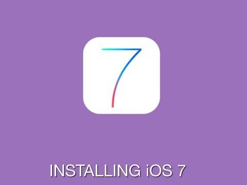 Before installing iOS 7, you should first backup your iPad or iPhone to iCloud. Check out this tutorial for a  step-by-step walk through of backing up your device and then correctly installing iOS 7.