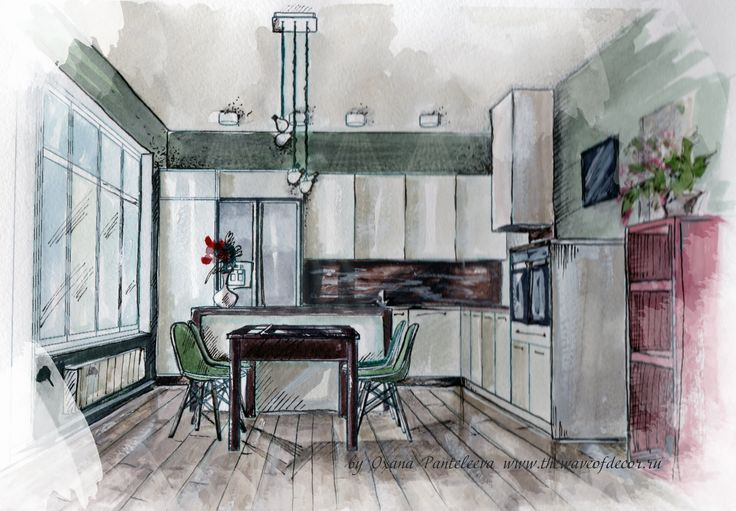Interior rendering/ Kitchen/ New project
