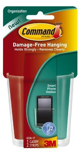 3M Command Smart Phone Station, Clear, 1-Caddy, 2-Pack by Command. $11.53. Amazon.com                  3M Adhesive Technology Command products offer simple, damage-free hanging solutions for many projects in your home and office. Simplify decorating, organizing, and celebrating with an array of general and decorative hooks, picture and frame hangers, organization products, and more. Thanks to the innovative Command adhesive strips, you can mount and remount your Comm...