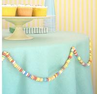 fruit loop garland.: Kids Parties, Kids Birthday, Birthday Parties, Decoration, Garlands, Parties Ideas, Necklaces Trim, Parties Decor, Candy Necklaces