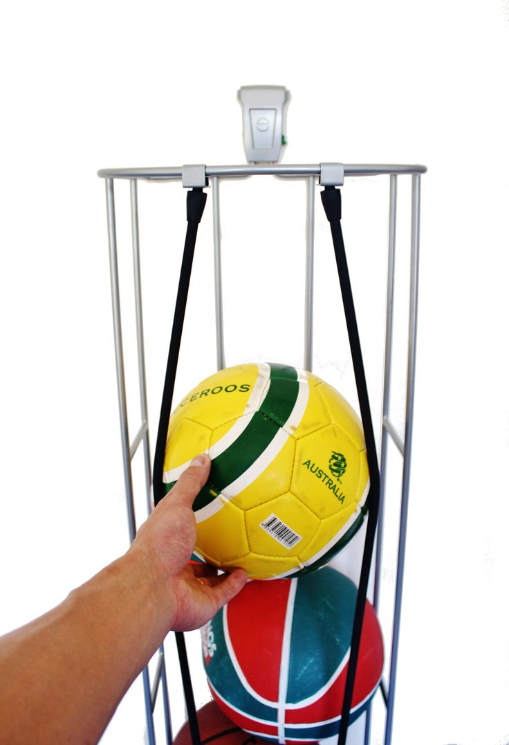 Get all your sports equipment organised. Start with the Ball Rack available from http://www.mygarage.co.za/pGSH19/Ball-Rack---5-Balls.aspx