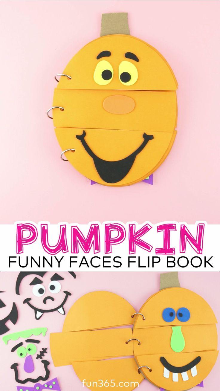 Pumpkin Humorous Faces Flip E-book
