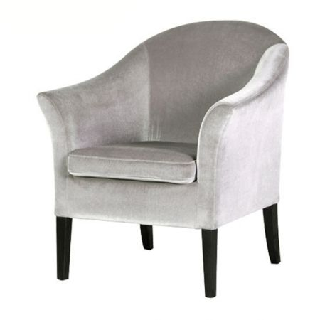 Deauville French silver velvet armchair - £274.00 Shop > http://bit.ly/2fZwE5t