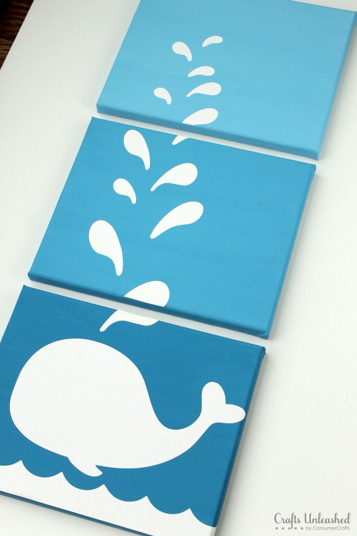 I  love this!  Adorable kid's room wall art. And DIY decoration inspiration.  Whale kid's room. Whale themed party.