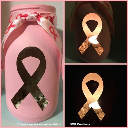Breast-Cancer-Awareness-Painted-Mason-Jar-Tea-Light-Candle-Holder