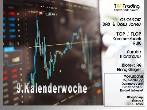 9.KW 2017: DAX & DOW sowie Commerzbank, RWE, Biotest & ElringKlinger (Tr...