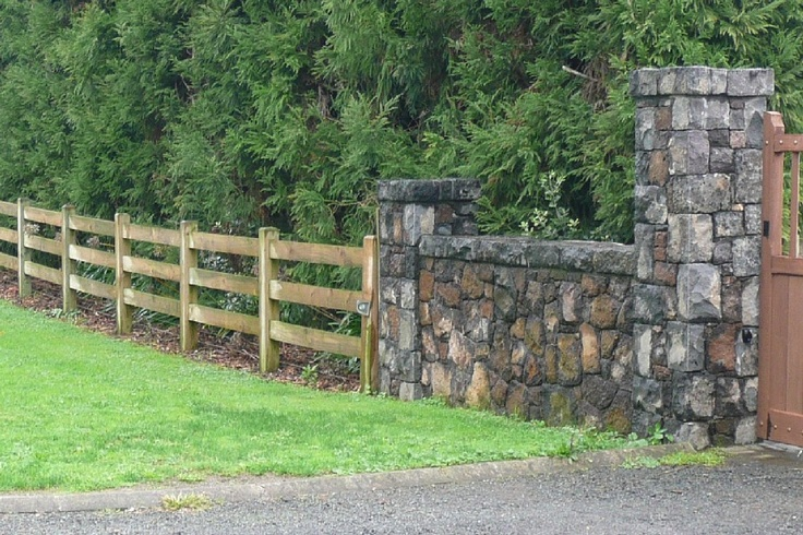 Stone Fence Pillars : Best images about front yard fence on pinterest