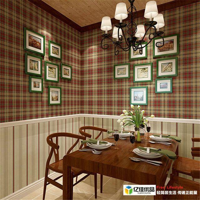 Tartán Escocés retro país de América importados papel de parede papel pintado de papel puro fondo dormitorio salón comedor
