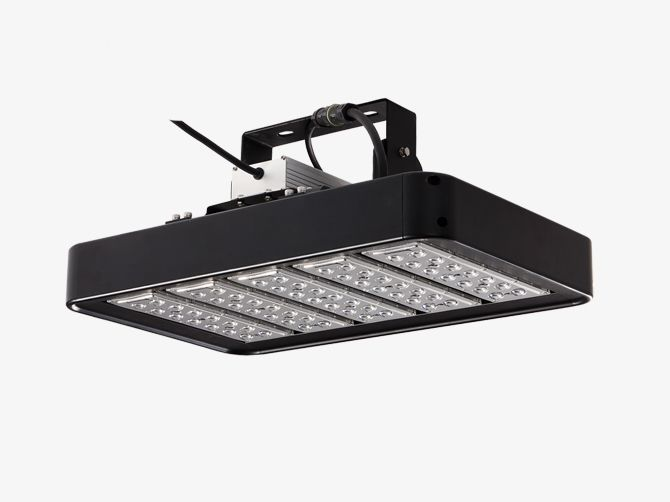 HITECNICO 200W LED High Bay Lights (fixture color in black) with 20,000 Lm, applied for high bay lighting, warehouse lighting, sports lighting, industrial lighting, etc.