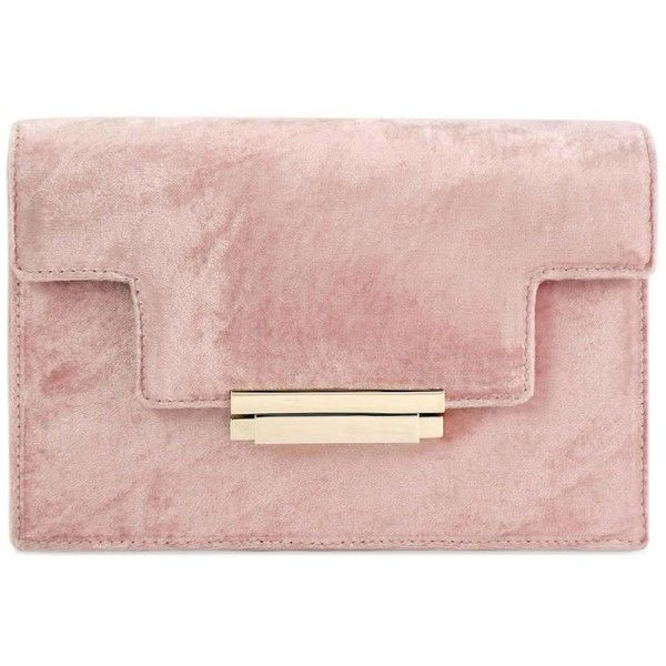 VELVET COCKTAIL CLUTCH found on Polyvore featuring bags, handbags, clutches, accessories, purses, special occasion purses, holiday handbags, velvet clutches, special occasion clutches and pink handbags