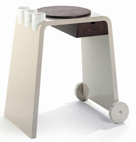 LEGNOART Carrello da cucina TROLLER, legno di frassino chiaro, design Jorgen Hjordie (J-100B) di cookplanet.it