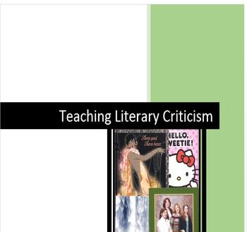 This is a 13-page introduction to teaching literary criticism.  Included are: Teacher Notes on literary criticism definitions, definitions for key terms relative to Reader-Response and Feminist Criticism, Questions students can use as guiding principals, a Feminist Criticism Exercise, and a quiz to determine predisposed students' positions regarding  Reader-Response theory.
